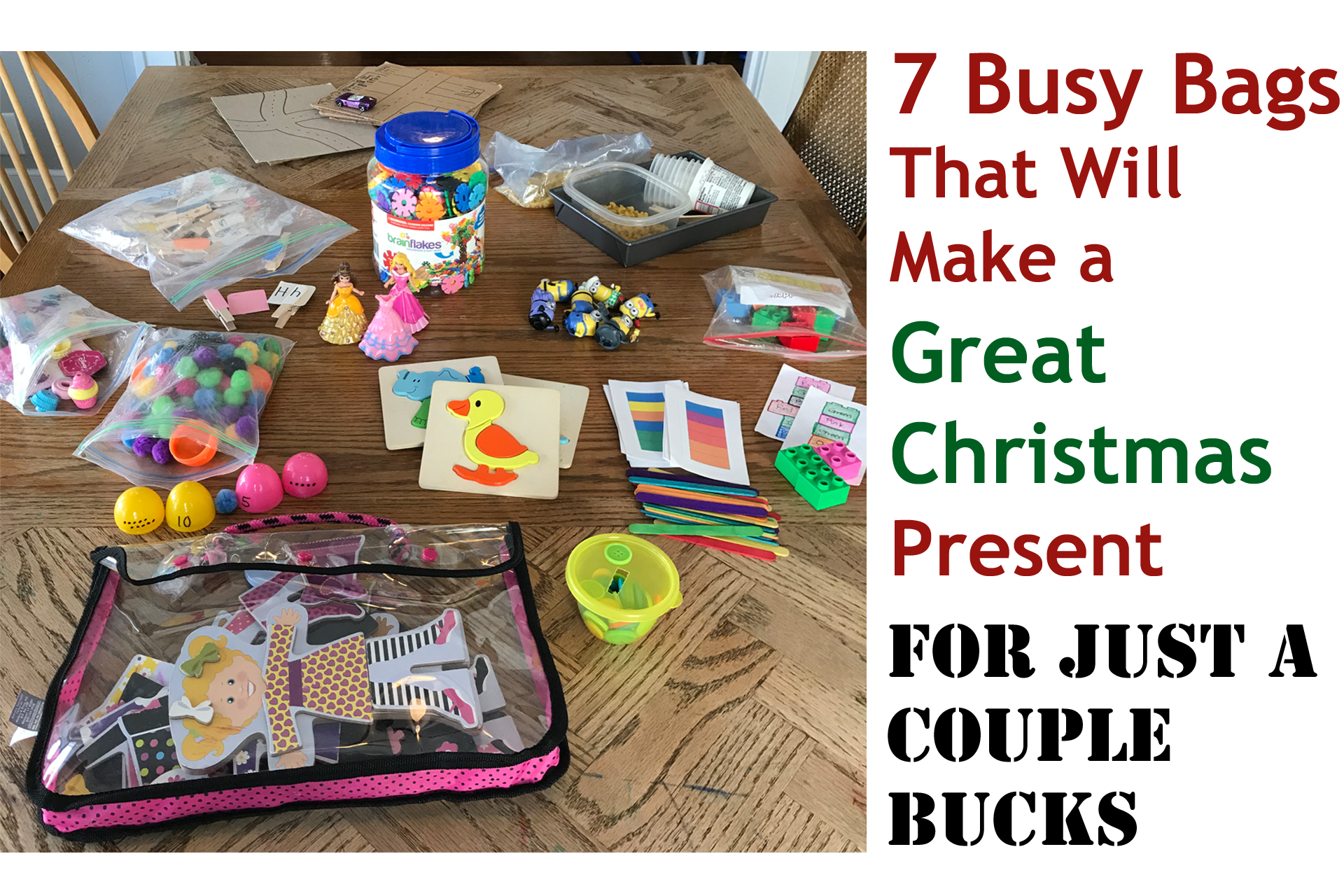 7 Busy Bags That Will Make a Great Christmas Present For Just a Couple Bucks